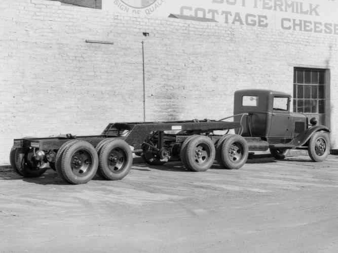 1930 Ford Model-AA 6-Wheel Tractor sermi retro f wallpaper
