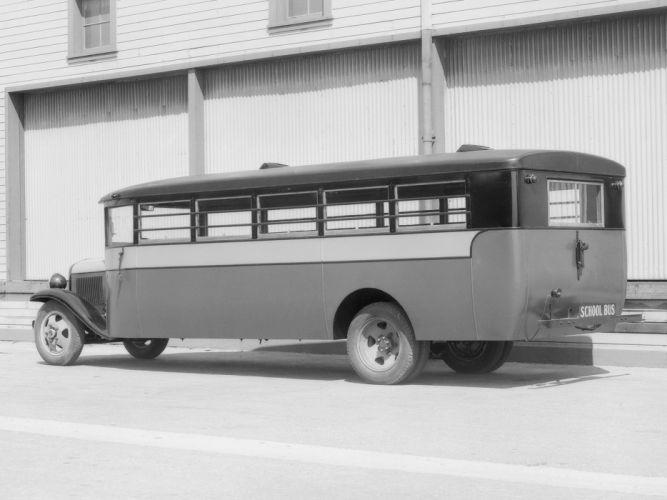 1931 REO Speed aeYaeYWagon School Bus Crown Motor Carriage transport semi tractor retro r wallpaper