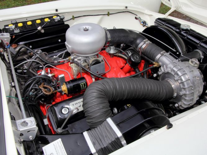 1957 Ford Thunderbird Special Supercharged 312 300HP (40A) retro engine g wallpaper