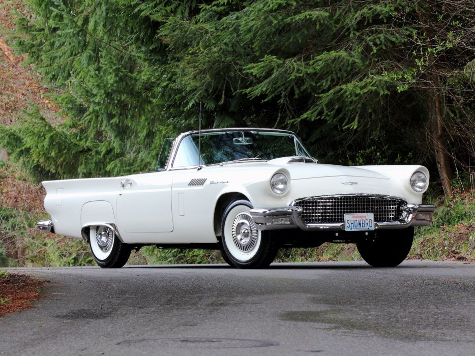 1957 Ford Thunderbird Special Supercharged 312 300HP (40A) retro    g wallpaper