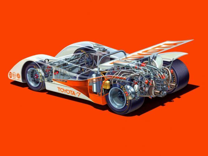 1967 Toyota 7 Le-Mans race racing interior engine f wallpaper