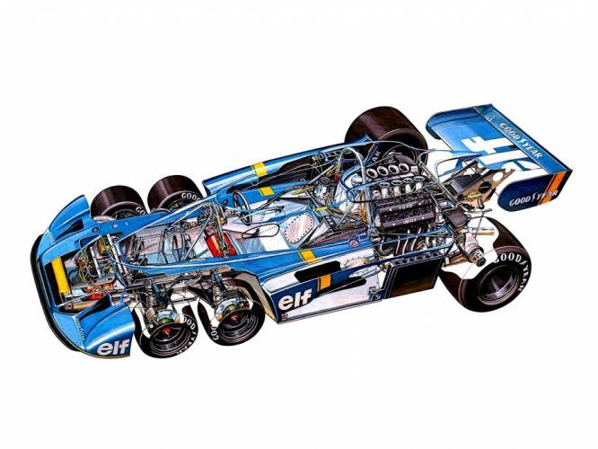 1976 Tyrrell P34 F-1 formula race racing interior engine f wallpaper