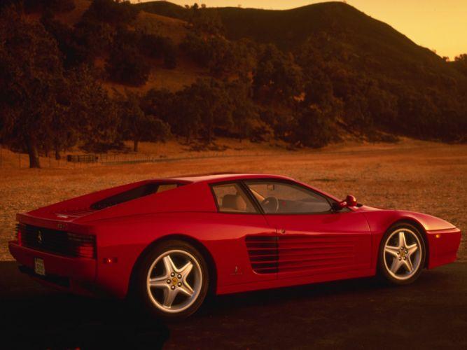 1992 Ferrari 512 T-R Testarossa supercar d wallpaper