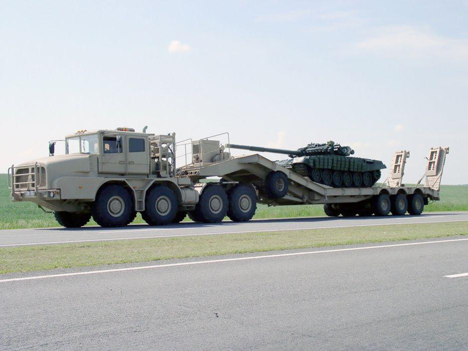 Russia tank mbt russian military red star truck mzkt kt-74135 2004 4000x3000 wallpaper