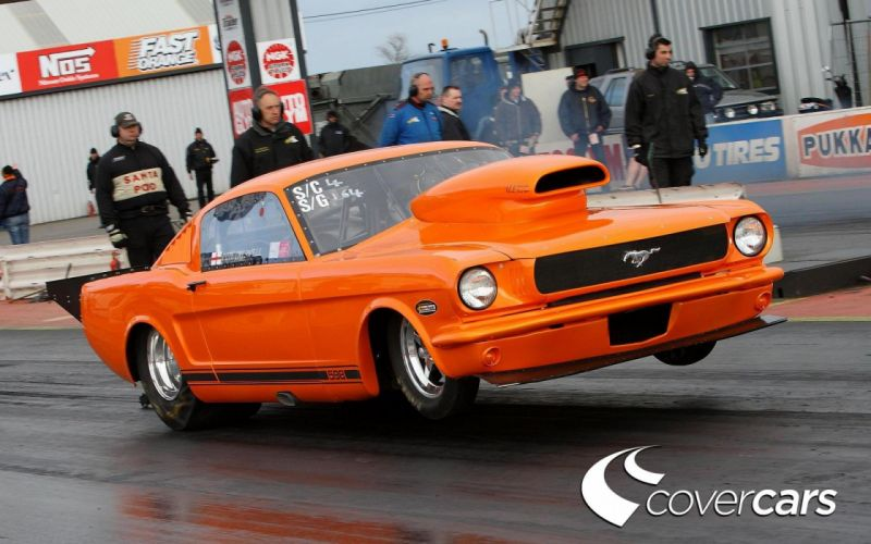 drag racing race hot rod rods ford mustang v wallpaper