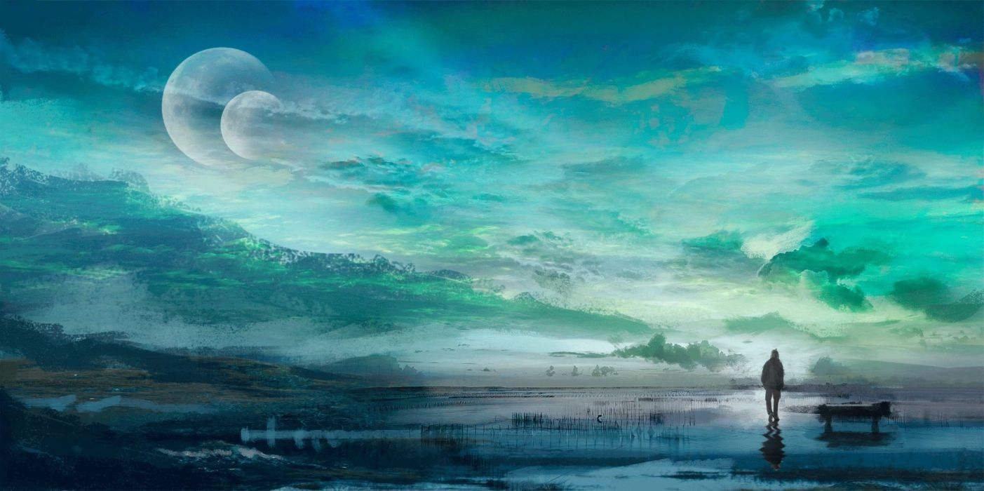 alex (artist) clouds landscape original planet scenic sky wallpaper