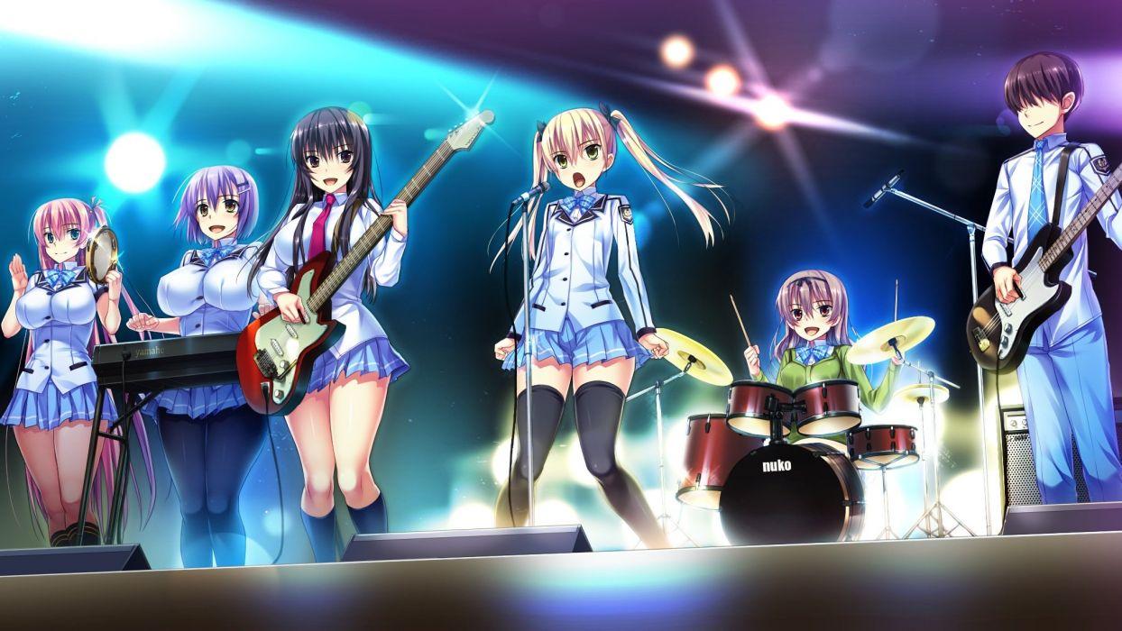 amakura anekawa shii game cg group guitar instrument kouduki haruka kuroki kisame mutsuki misora nishinomiya yuuri piano root nuko seifuku wallpaper