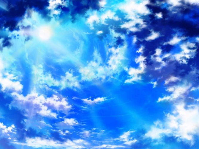 Art iy tujiki sky clouds nature sun wallpaper