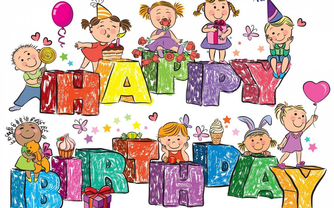 childhood birthday congratulations wallpaper