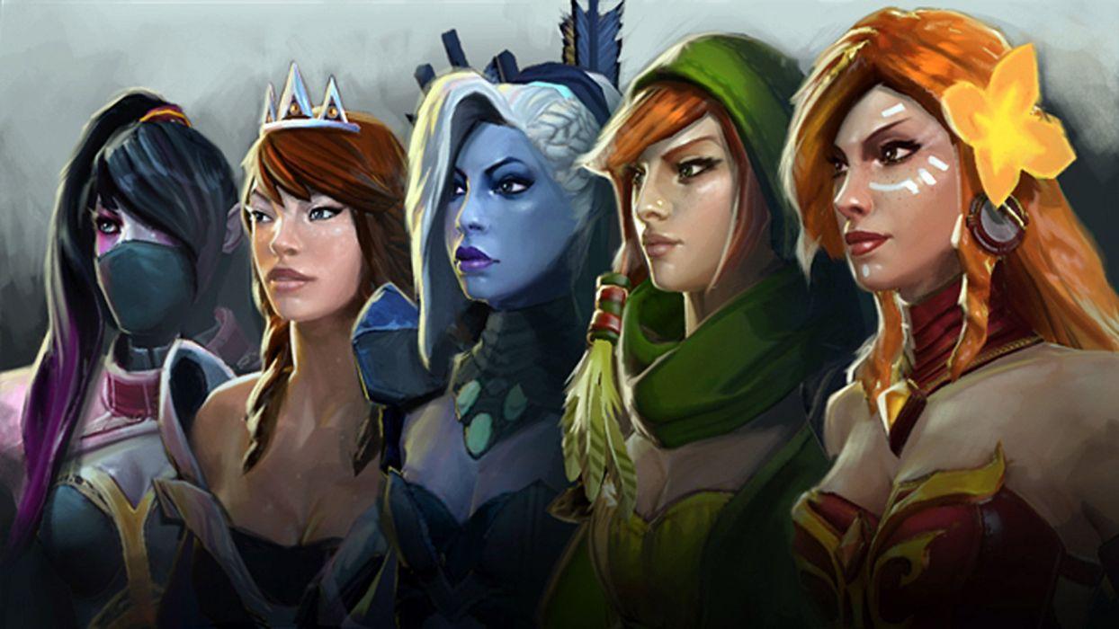 DOTA 2 Mirana Lyralei The Windrunner Games Girls Fantasy Wallpaper
