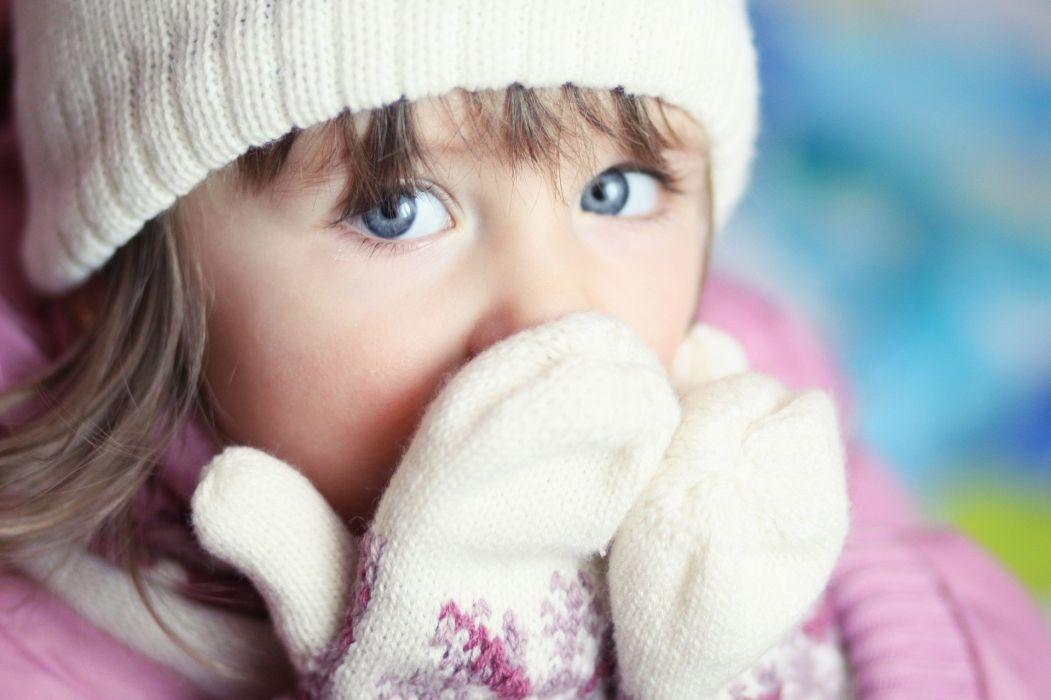 girl child blue eyes gloves eye wallpaper