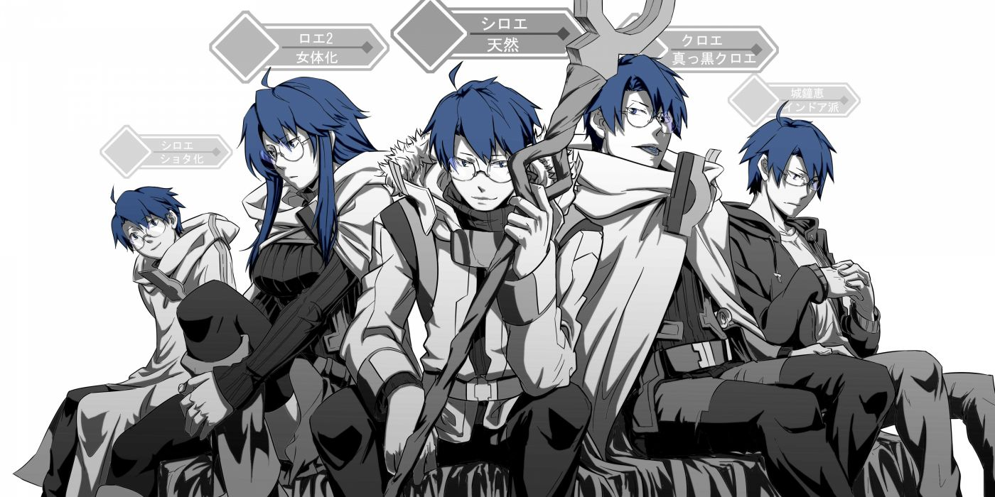 glasses log horizon long hair monochrome shiroe wallpaper