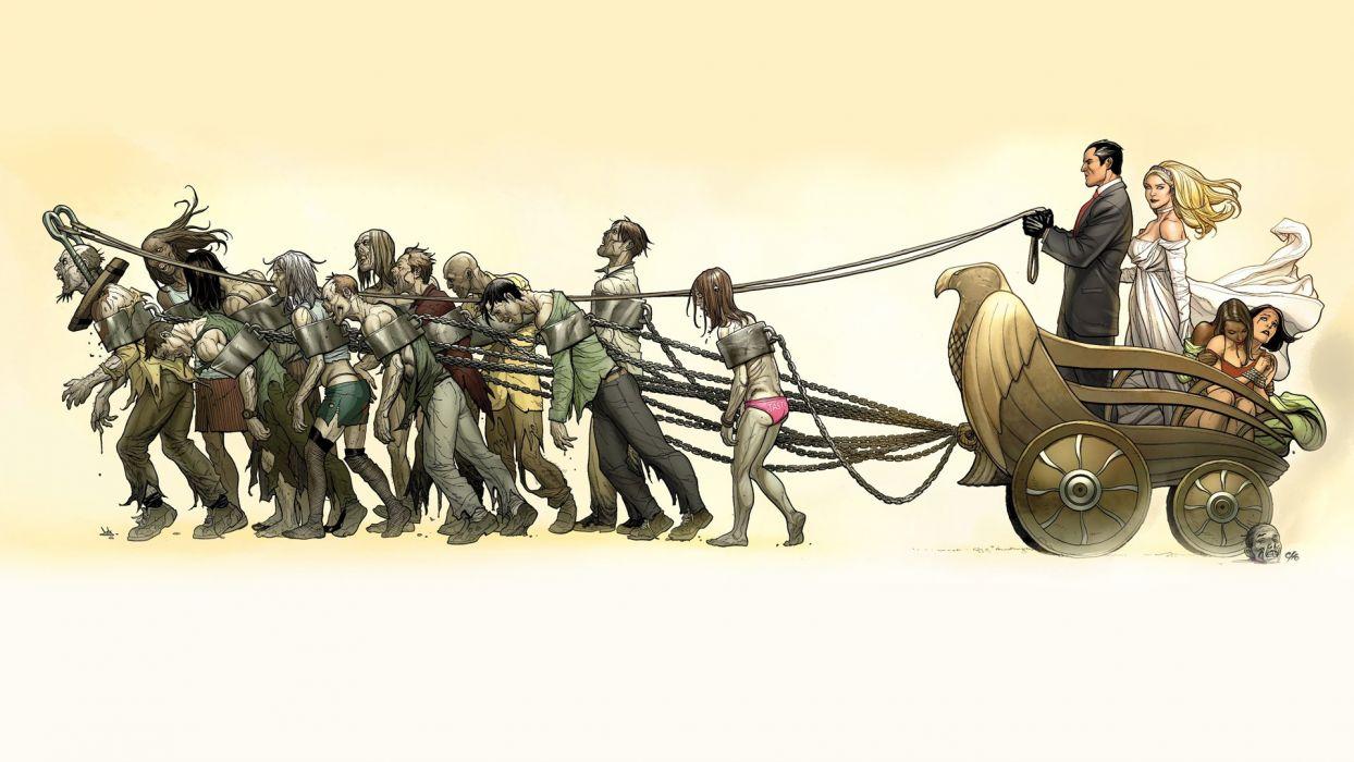 Heroes comics Zombie Empire of the Dead Fantasy dark wallpaper