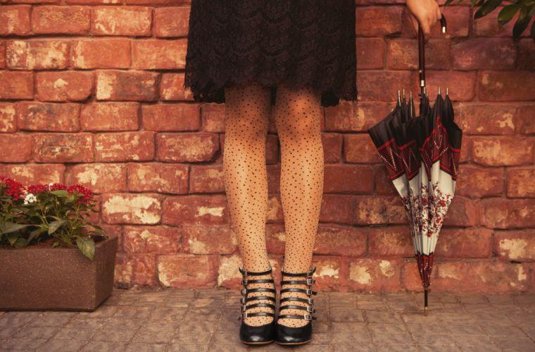 mood girl legs dress umbrella umbrella flower wallpaper