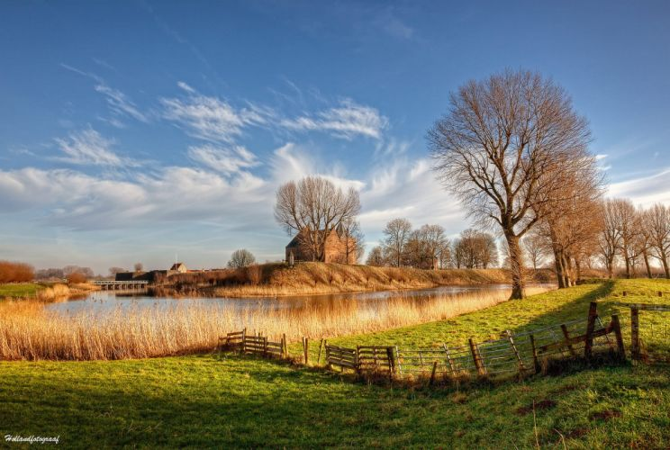 river holland netherlands nature autumn wallpaper
