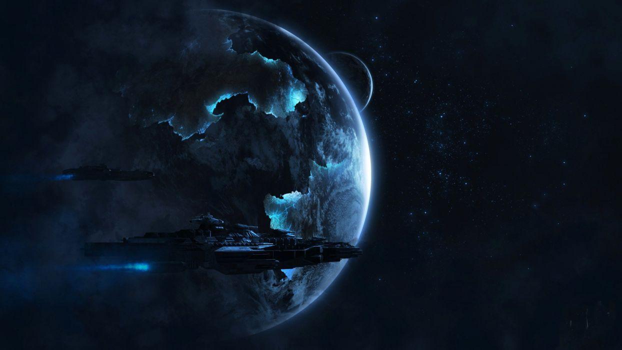 ship star planet space spaceship     f wallpaper