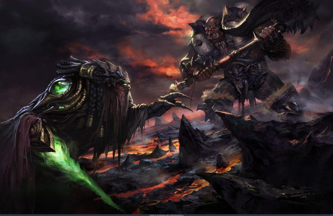 World Of Warcraft Wow Battle Magic Orc Zeratul Games