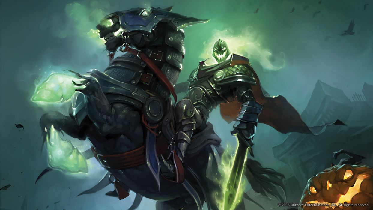 World of WarCraft ( WoW ) Monster Magic Headless Horseman Hallows End Armor Swords Games Fantasy wallpaper