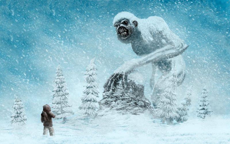 Supernatural beings Monster Yeti Snow Fantasy wallpaper