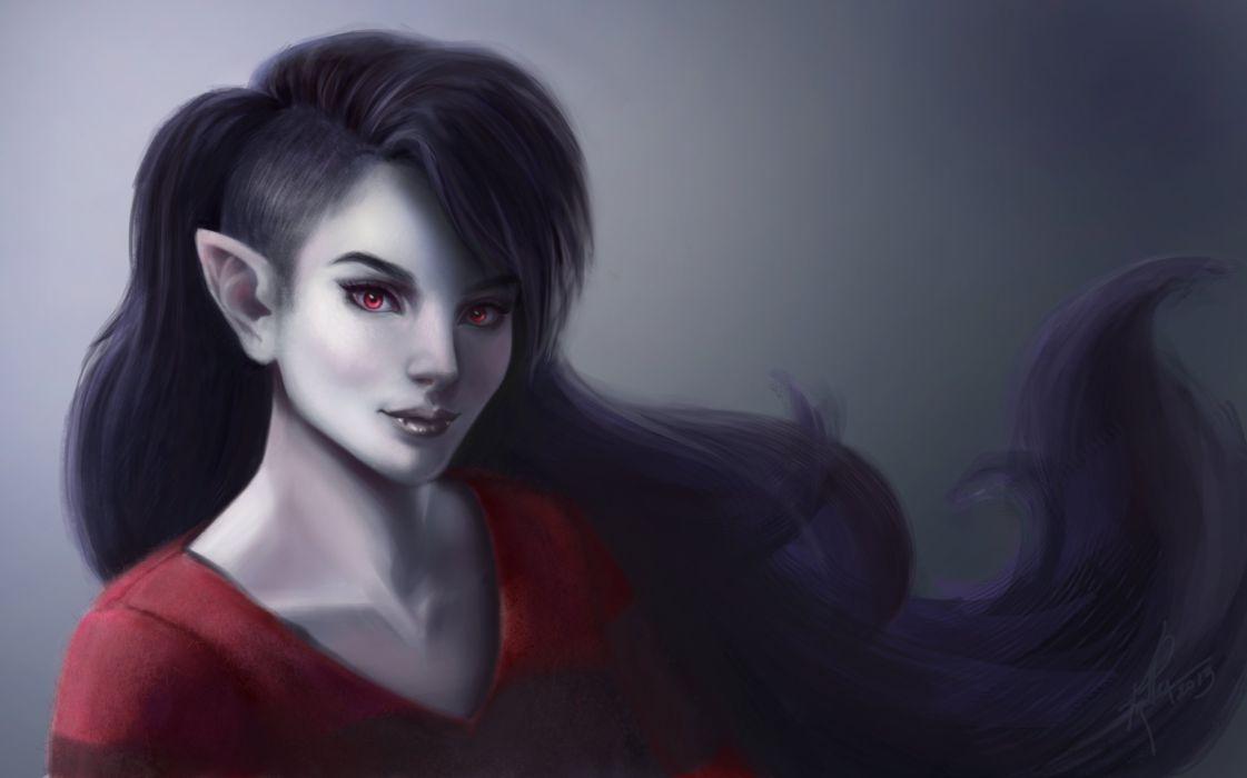Vampire Gothic Brunette girl Glance Fantasy Girls fantasy wallpaper