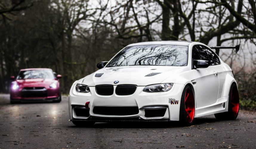 BMW E92 M3 White Front Cars tuning wallpaper
