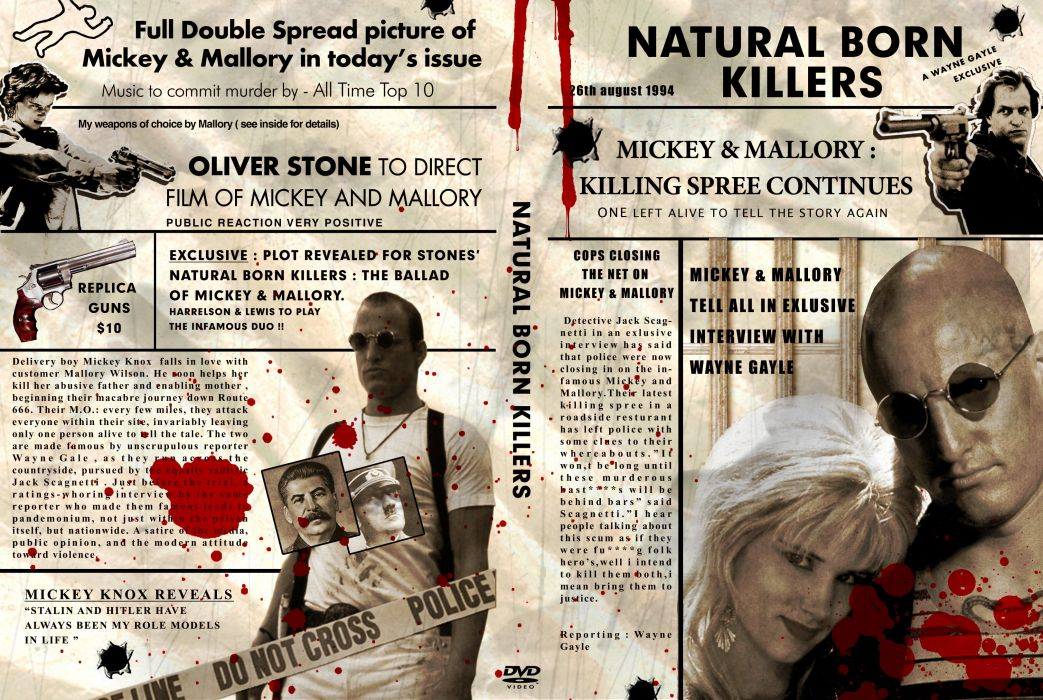 NATURAL BORN KILLERS crime drama horror dark film action (35) wallpaper