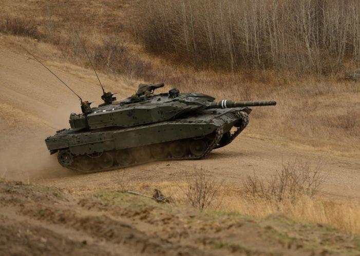 combat leopard-a4m tank road military wallpaper