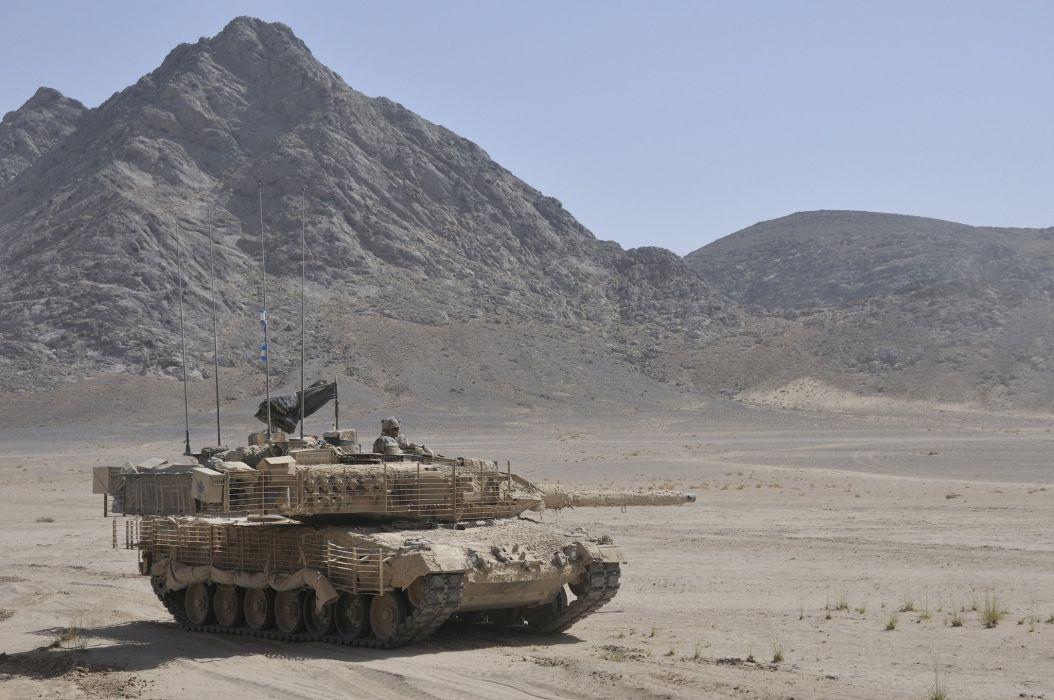 leopard 2a6m combat desert tank military desert wallpaper