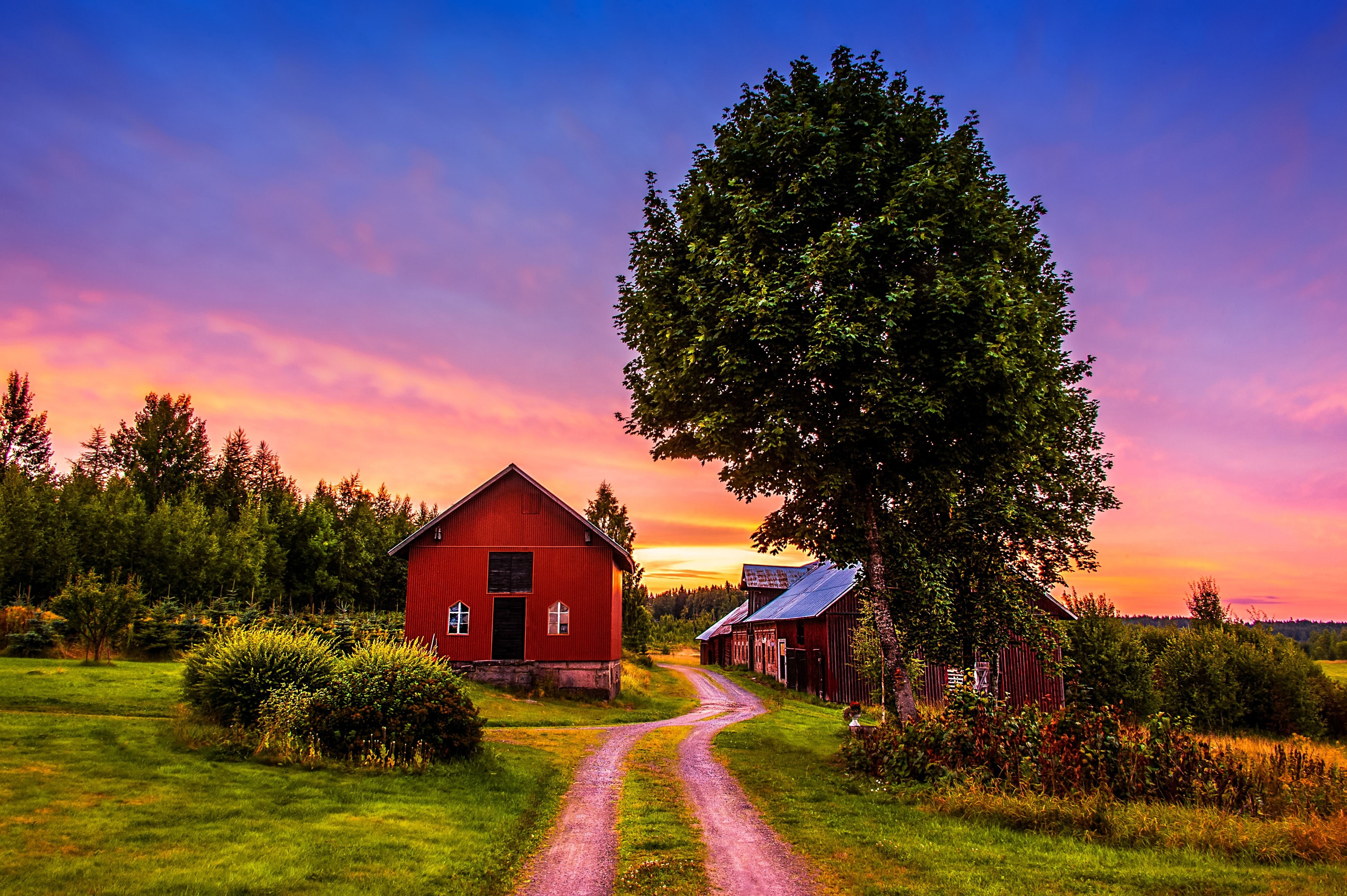 Beautiful farm houses wallpaper for Pretty wallpapers for home