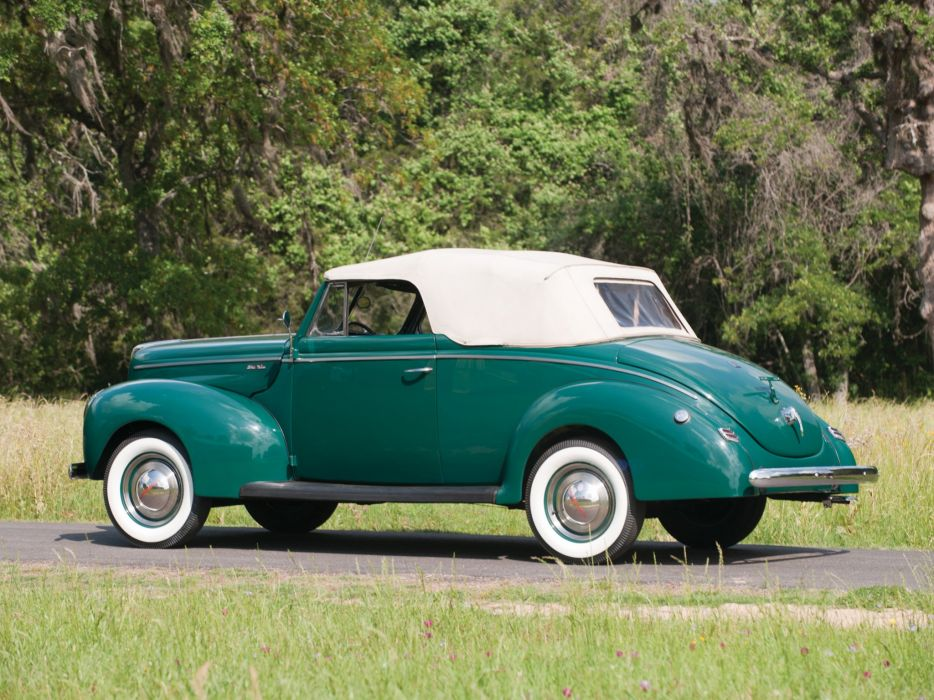 1940 Ford V-8 Deluxe Convertible Coupe (01A-66) retro k wallpaper