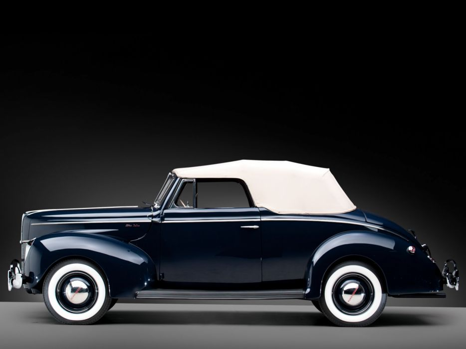 1940 Ford V-8 Deluxe Convertible Coupe (01A-66) retro b wallpaper