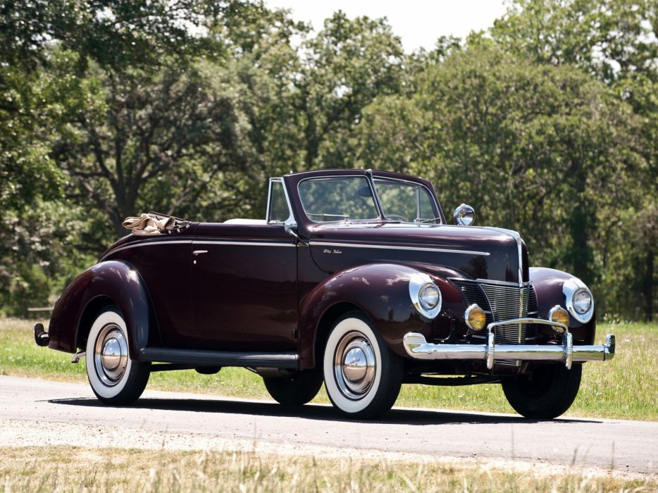 1940 Ford V-8 Deluxe Convertible Coupe (01A-66) retro  r wallpaper