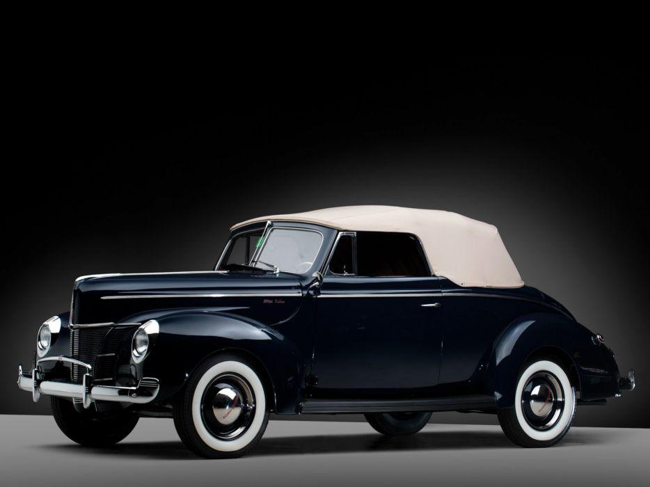 1940 Ford V-8 Deluxe Convertible Coupe (01A-66) retro gw wallpaper