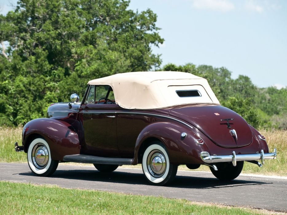 1940 Ford V-8 Deluxe Convertible Coupe (01A-66) retro g wallpaper