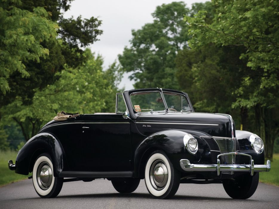 1940 Ford V-8 Deluxe Convertible Coupe (01A-66) retro h wallpaper
