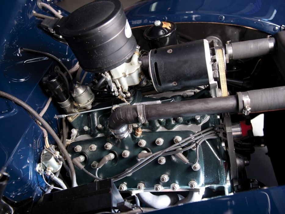 1940 Ford V-8 Deluxe Convertible Coupe (01A-66) retro engine  h wallpaper