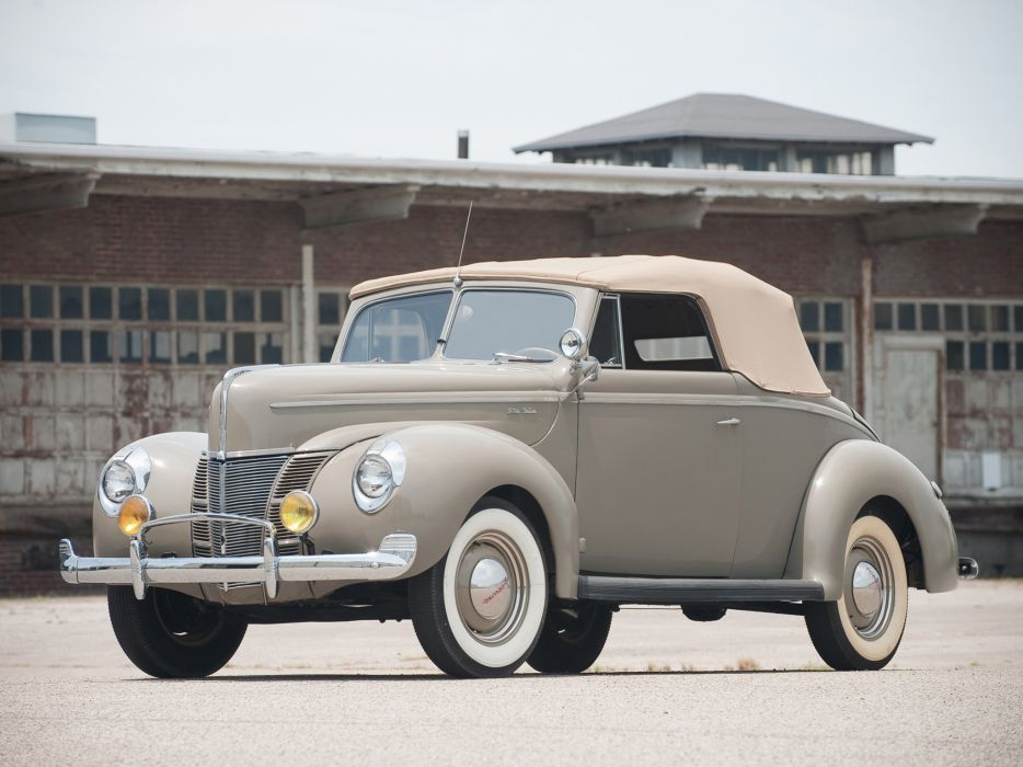 1940 Ford V-8 Deluxe Convertible Coupe (01A-66) retro  jd wallpaper