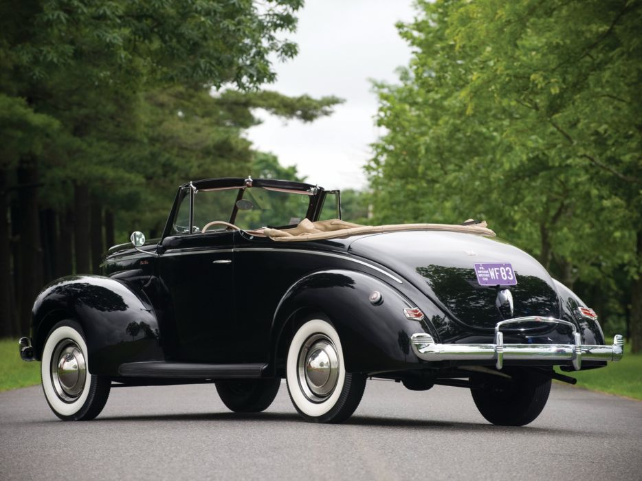 1940 Ford V-8 Deluxe Convertible Coupe (01A-66) retro  j wallpaper