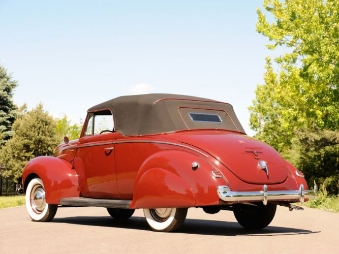 1940 Ford V-8 Deluxe Convertible Coupe (01A-66) retro gd wallpaper