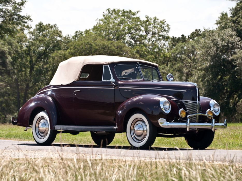 1940 Ford V-8 Deluxe Convertible Coupe (01A-66) retro  hj wallpaper