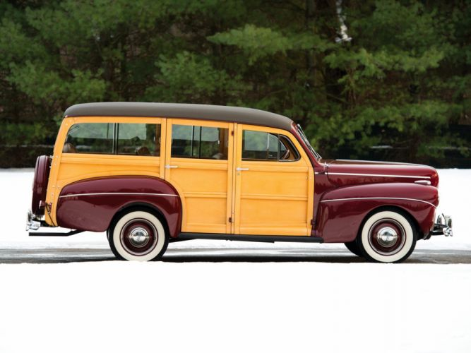 1941 Ford V-8 Super Deluxe StationWagon (11A-79B) woody retro f wallpaper