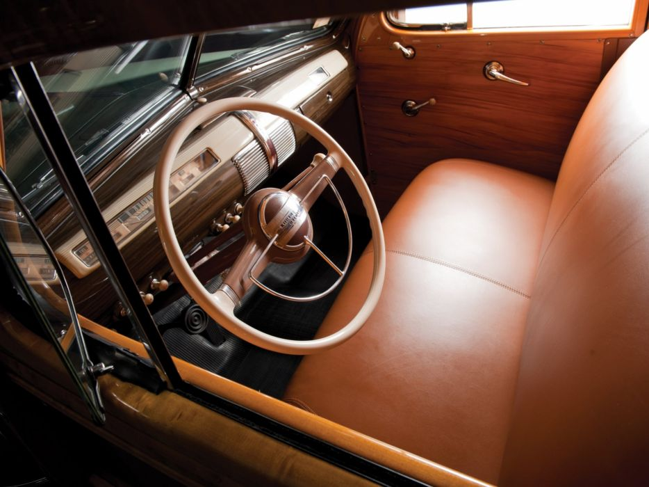 1941 Ford V-8 Super Deluxe StationWagon (11A-79B) woody retro interior   g wallpaper