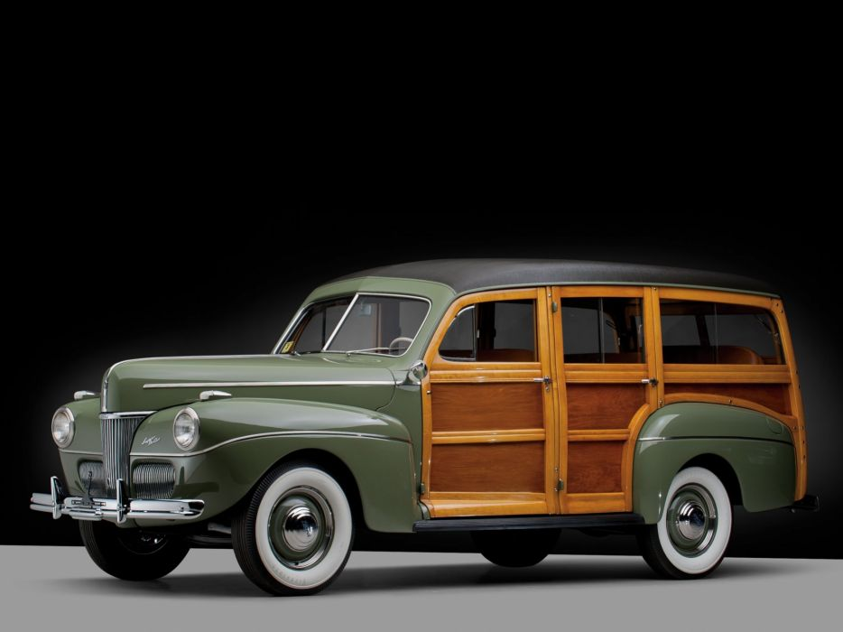 1941 Ford V-8 Super Deluxe StationWagon (11A-79B) woody retro  g wallpaper