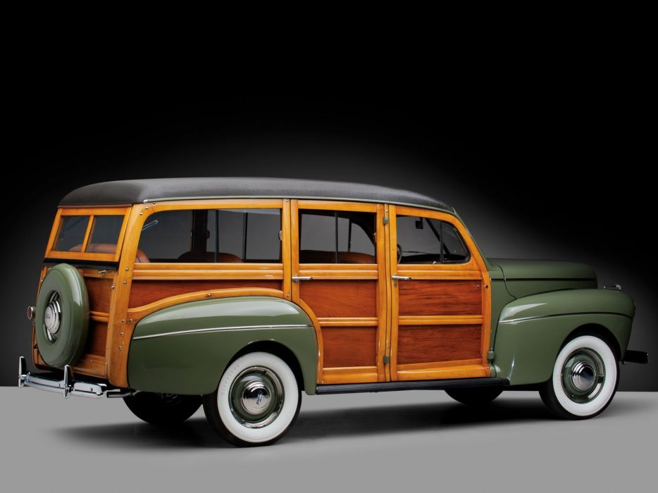 1941 Ford V-8 Super Deluxe StationWagon (11A-79B) woody retro  gw wallpaper