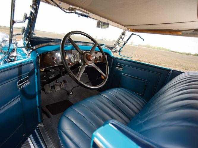 1930 Packard Custom Eight Sport Phaeton (740-441) retro luxury interior h wallpaper