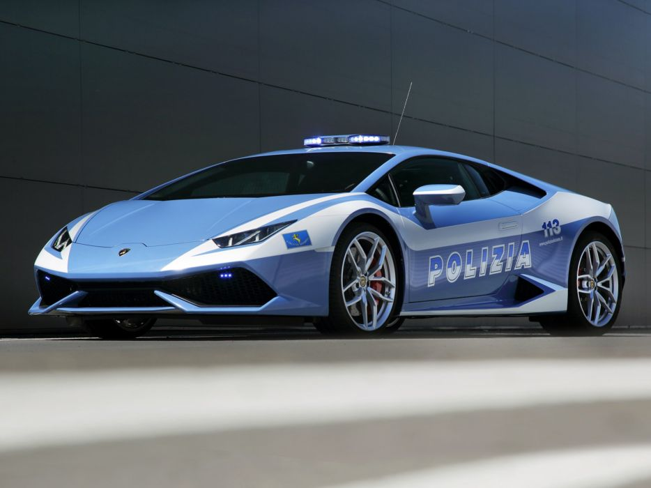 2014 Lamborghini Huracan LP610-4 Polizia (LB724) police emergency supercar    f wallpaper