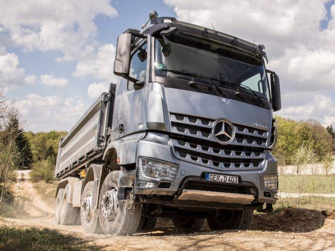 2014 Mercedes Benz Arocs 4145 SLT semi tractor g wallpaper