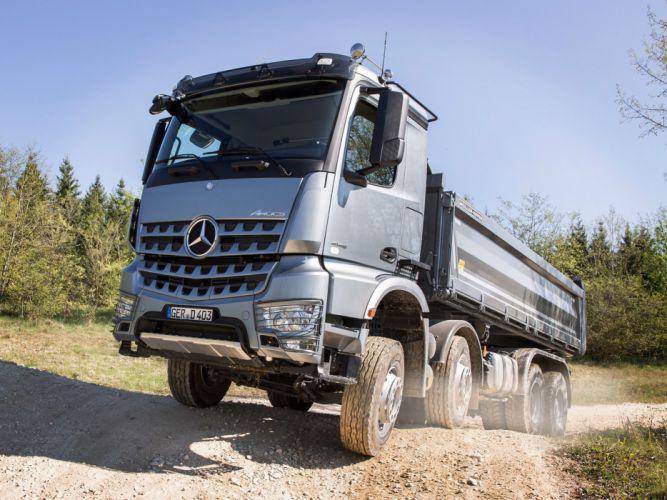 2014 Mercedes Benz Arocs 4145 SLT semi tractor y wallpaper
