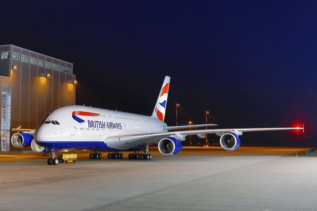 AIRBUS A380 airliner plane airplane transport (1) wallpaper