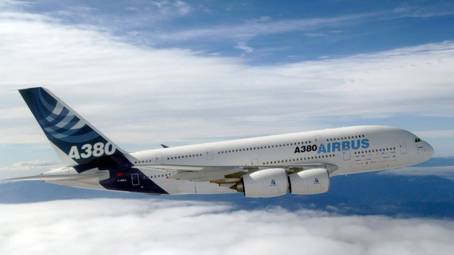 AIRBUS A380 airliner plane airplane transport (9) wallpaper